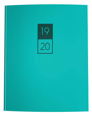 Teal Blue and Evergreen Academic Planner 2019-2020