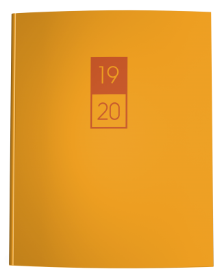 Mustard Yellow and Burnt Orange Academic Planner 2019-2020