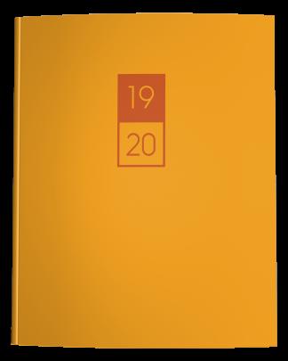 Mustard Yellow and Burnt Orange Academic Planner 2019-2020