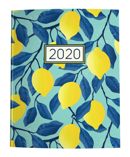2020 Planner Lemons on Teal Blue