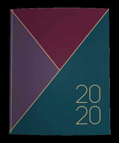 2020 Planner Cover in Merlot Maroon, Plum Purple, and Dark Teal