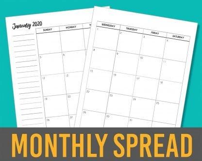 2020 Calendar Months