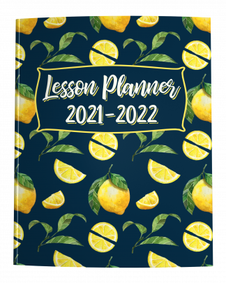 2021-2022 Lesson Planner with Lemon Cover