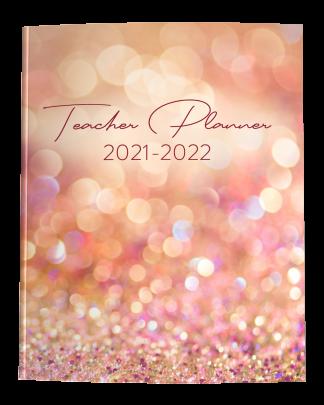 2021-2022 Teacher Planner with Rose Gold Glitter Cover