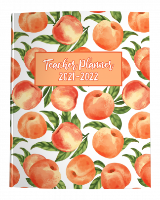 2021-2022 Teacher Planner with Watercolor Peaches