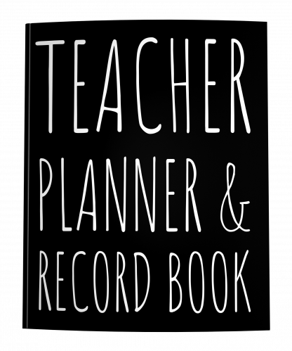2021-2022 Teacher Planner Record Book with Rae Dunn style lettering