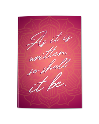 As It Is Written So Shall It Be Pink Coral Ombre Journal