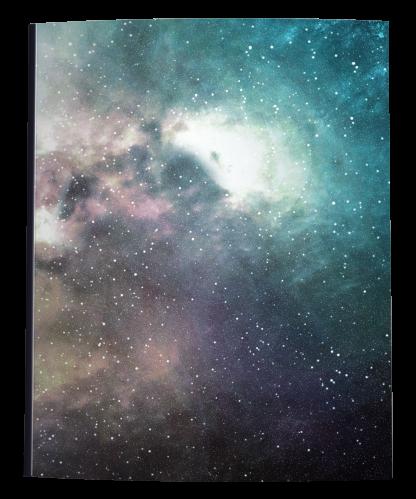 Blue Nebula Notebook