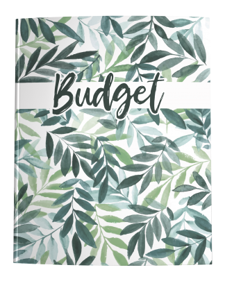 Budget Book - Green Watercolor Leaves