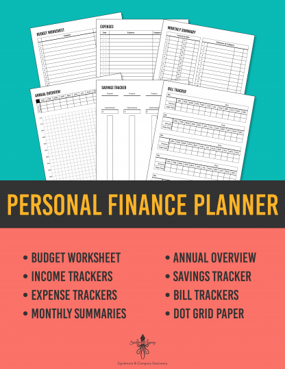 Personal Finance Planner / Budget Book for Household Accounting