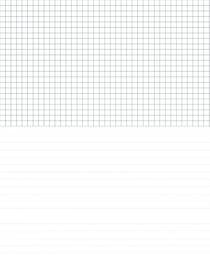 Half Graph Paper Half College Ruled Notebook Paper Template