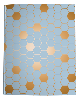 Blue Bronze Hexagon Notebook Cover
