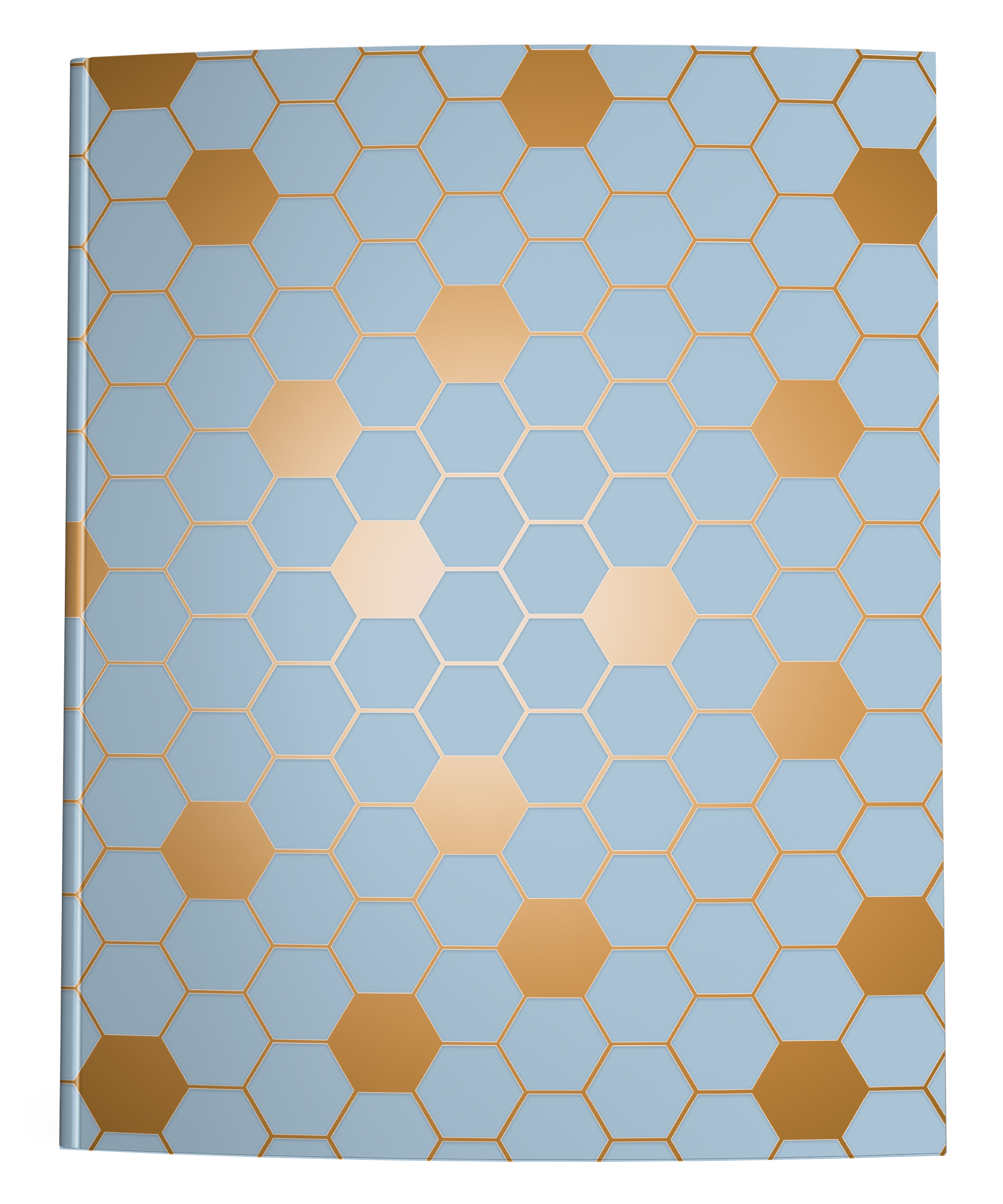 picture relating to Printable Hexagon Graph Paper named Hexagon Graph Paper Laptop computer Blue Brown