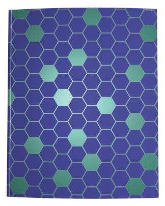 Blue Green Hexagon Notebook Cover