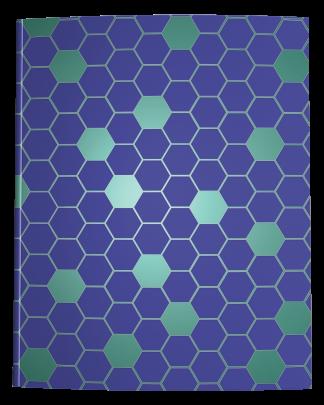 Blue Green Hexagon Notebook Cover