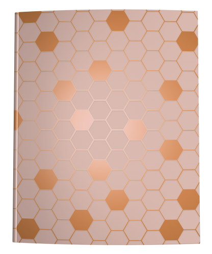 Blush Pink Rose Gold Hexagon Notebook Cover