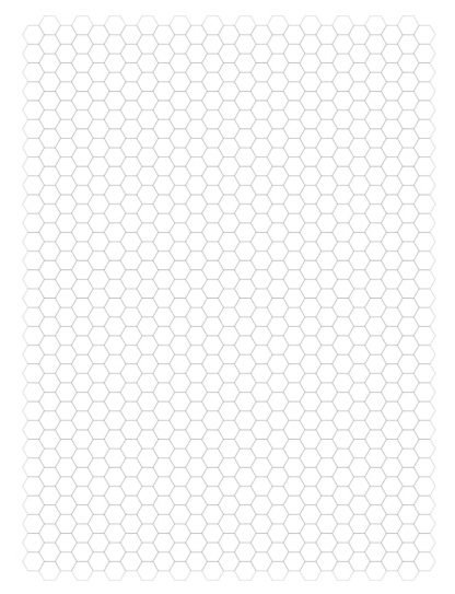 small hexagon graph paper
