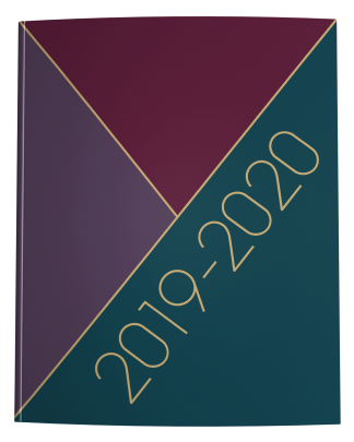 2019-2020 Teacher Lesson Planner Winter Tricolor Maroon Teal Purple