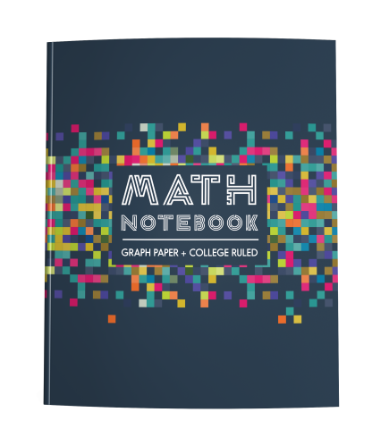 Math Notebook with Half Graph Paper Half College Ruled Pages
