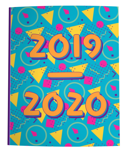 2019-2020 Dated Academic Planner Neon Memphis