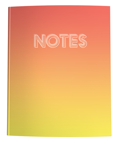 Living Coral Yellow Ombre Notebook
