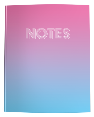 Pink Blue Ombre Notebook