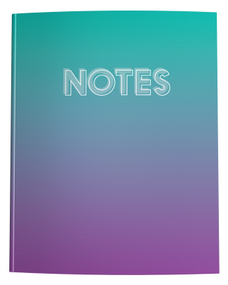 Teal to Purple Ombre Notebook