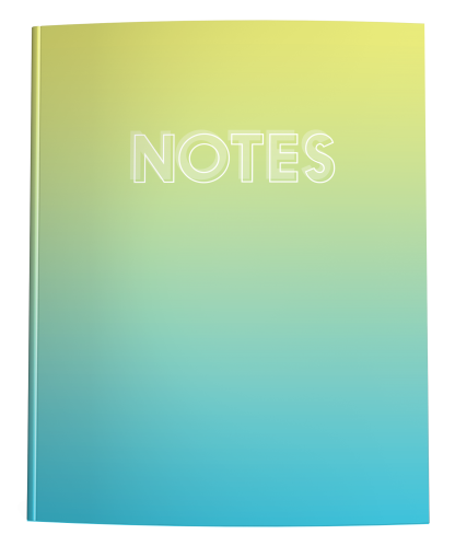 Yellow to Blue Ombre Notebook