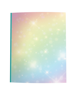 Pastel Rainbow Gradient Composition Notebook
