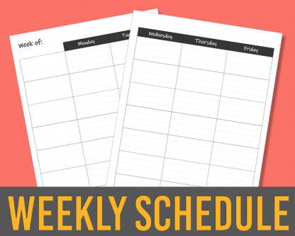 weekly 7-subject lesson planner spread