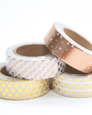 Metallic Washi Tape in Gold and Rose Gold