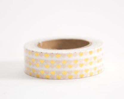 Gold Tiny Heart Washi Tape