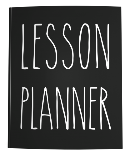Lesson Planner in Rae Dunn style skinny handwriting