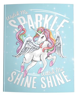 Watch Me Sparkle and Shine Unicorn Composition Notebook