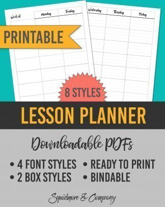 Printable Lesson Planner Template for Teachers