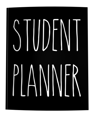 Student Planner in Rae Dunn Style Lettering