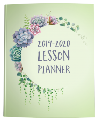 Teacher Lesson Planner Succulent Green