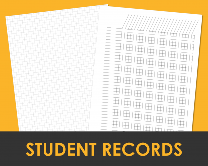 Student record pages for attendance and grades