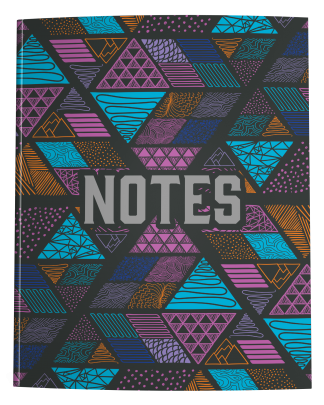 Tribal Doodle Pattern College Ruled Notebook Journal