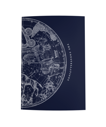 Navy Blue Journal with a Vintage Constellation Map